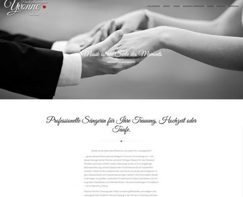 Webdesign, Hochzeitssängerin Yvonne