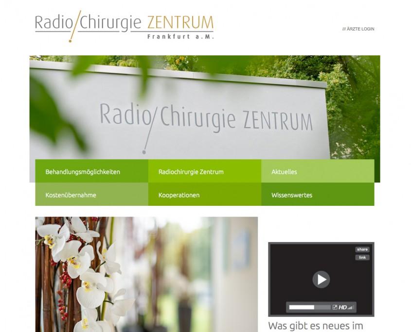 Webseite Radiochirurgie Frankfurt
