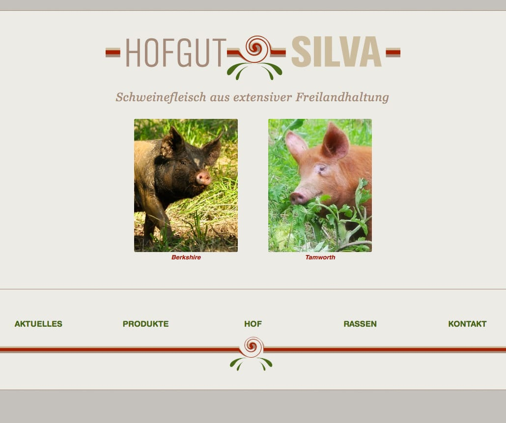 Webdesign, Hofgut Silva
