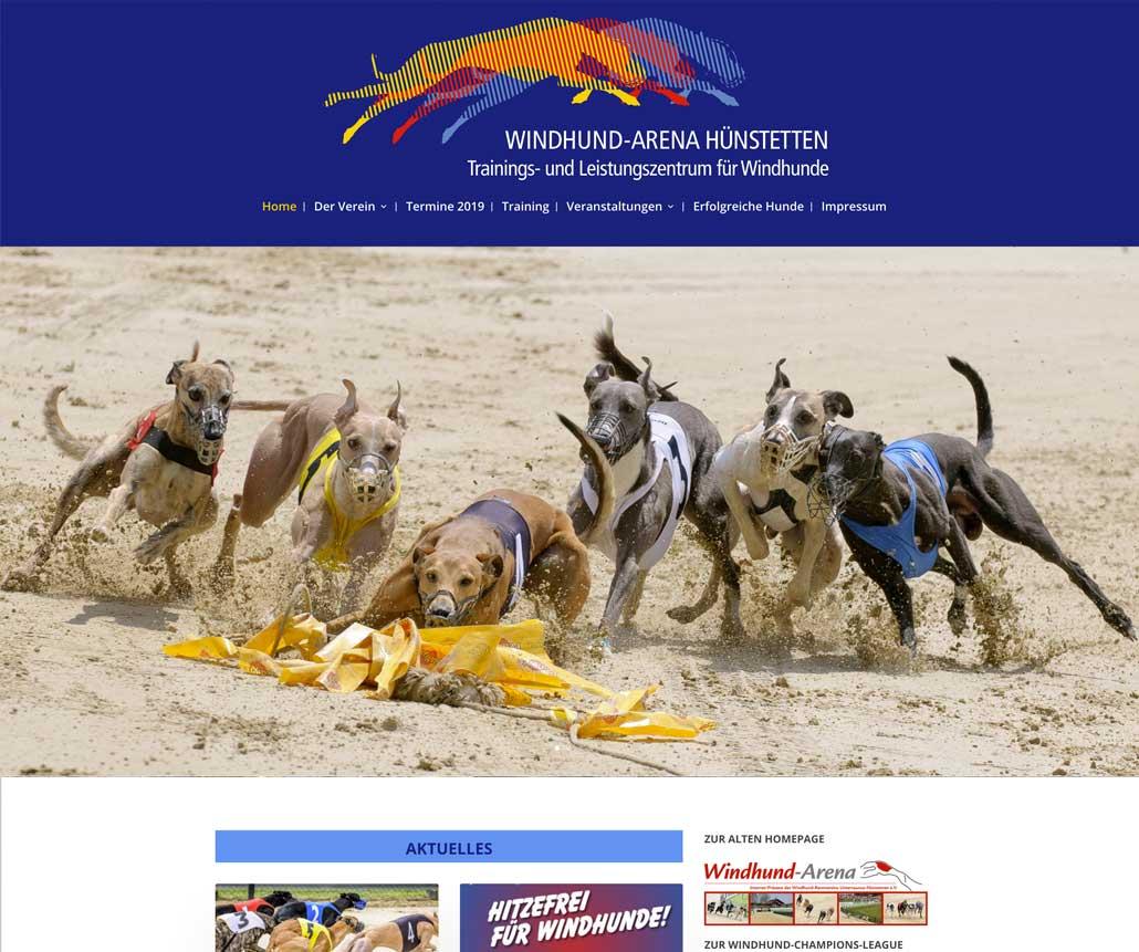 Webseite Windhund Arena Hünstetten